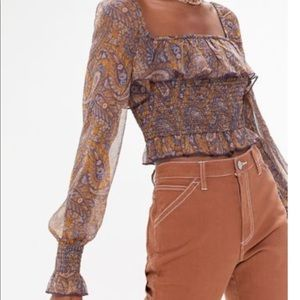 Urban Outfitters Crop Peasant top
